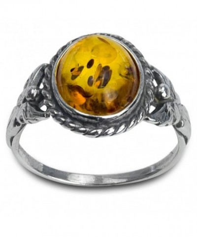 Honey Amber Sterling Silver Small