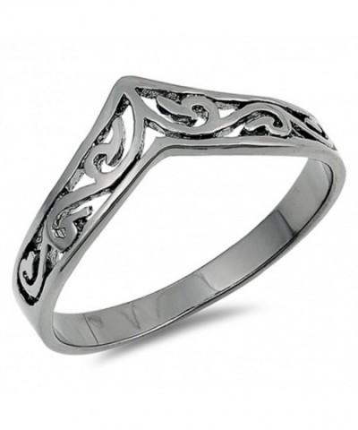 Filigree Celtic Black Tone Sterling Silver