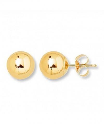 Yellow Gold Ball Stud Earring