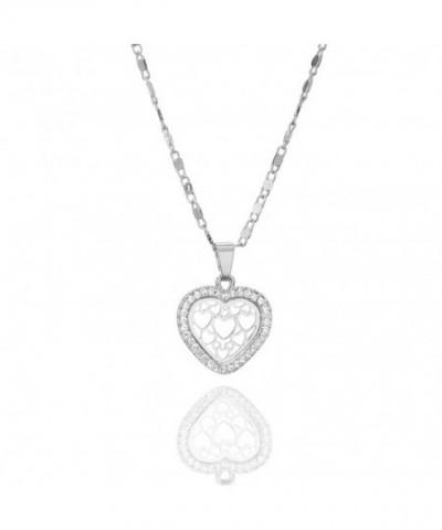 Necklace Pendant Brilliant Rhinestone Zirconia