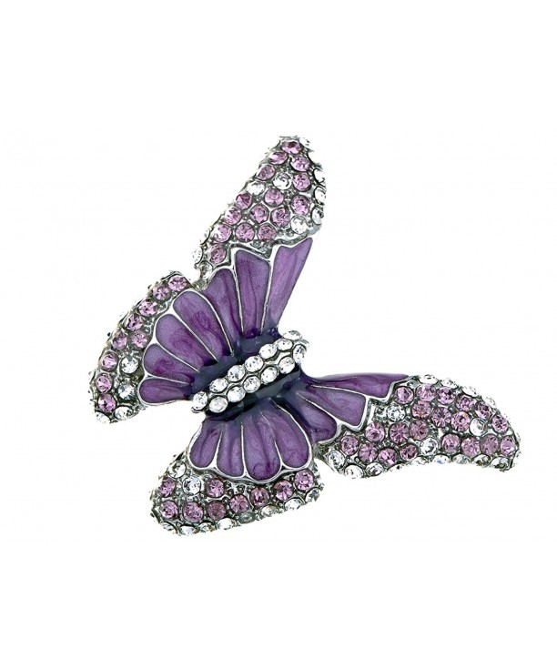 Alilang Butterfly Crystal Amethyst Rhinestone