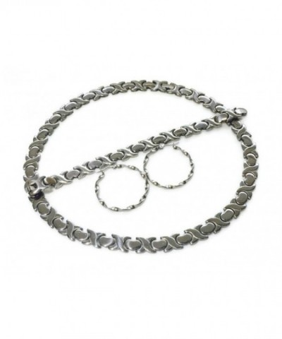 Stainless Stampato Necklace Earring Bracelet