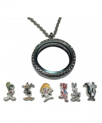 Looney Floating Colored Pendant Necklace