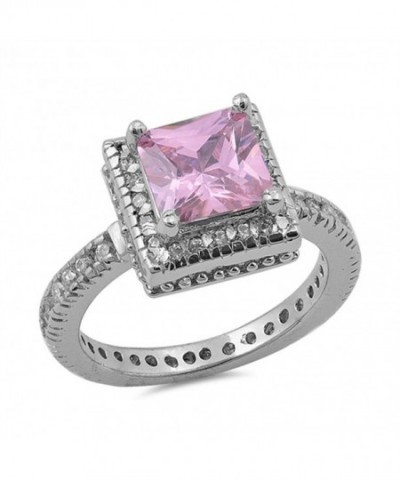 Simulated Princess Wholesale Sterling Silver