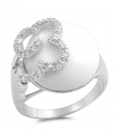 Simulated Mother Flower Sterling Silver