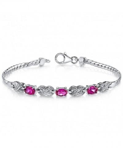 Luxurious Created Gemstone Bracelet Sterling