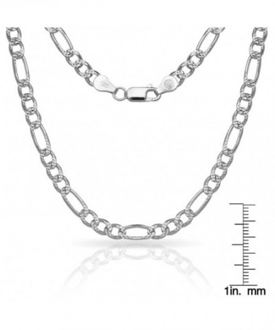 Sterling Silver Figaro Chain Anklet