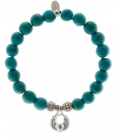 EvaDane Natural Turquoise Gemstone Bracelet