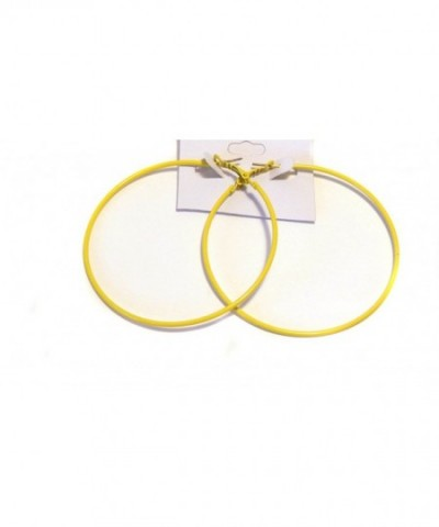 Yellow Hoop Earrings Simple Thin
