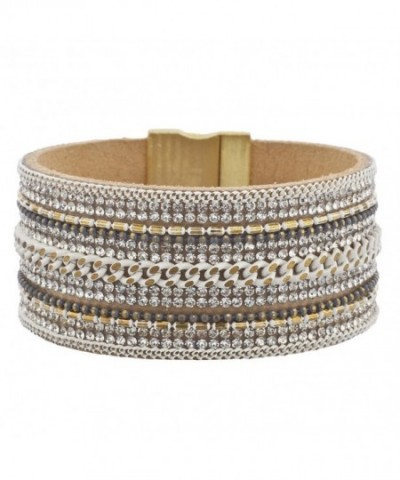 Lux Accessories Goldtone Magnetic Bracelet