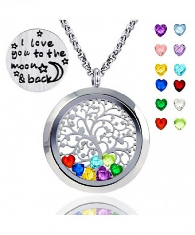 Floating Necklace Birthstones Include polished