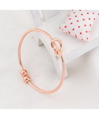 Simple Love Knot Bracelet Tie The Knot Cuff Bangle Rose