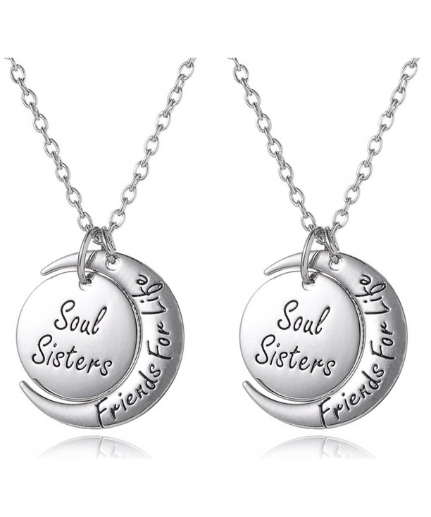 Sisters Friends Matching Necklaces Jewelry