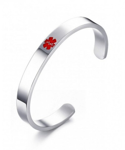 Engraving Stainless Medical Bangle Bracelet