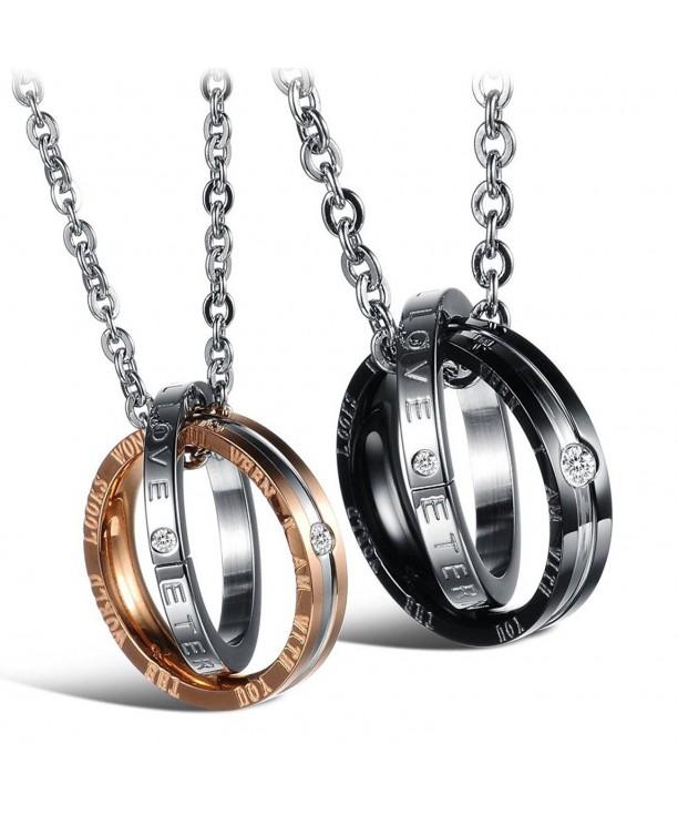 Titanium Necklace Matching Engraved Anniversary