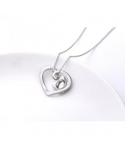 Infinite U Love His and Her Heart Matching EngravedForever Love 925 Sterling Silver Couples Necklace