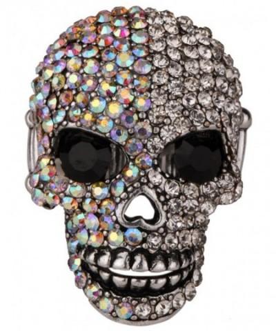 YACQ Jewelry Crystal Skull Stretch