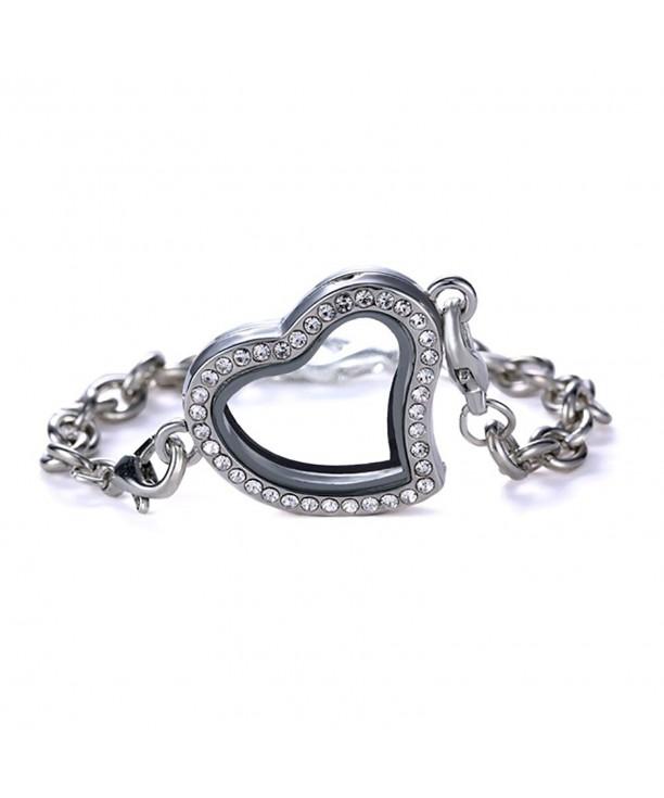 Bling Stars Rhinestone Floating Bracelet