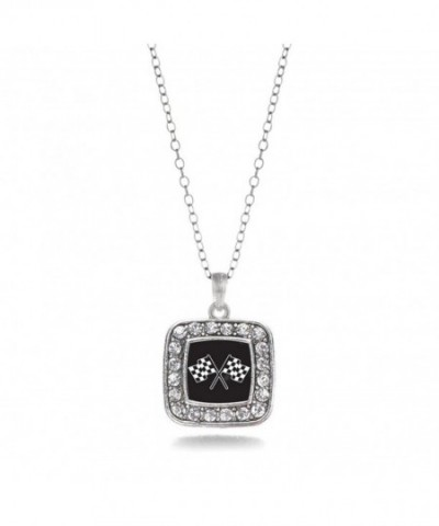 Speedway Classic Silver Crystal Necklace