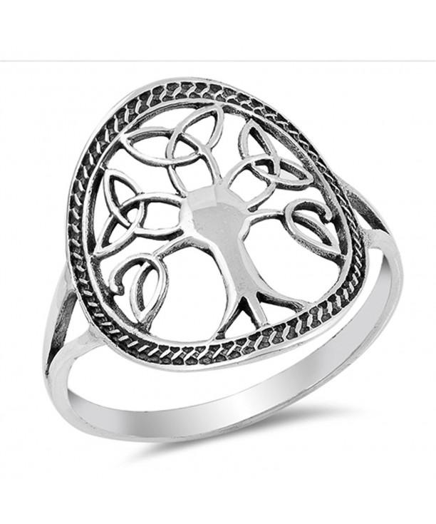Oxidized Celtic Filigree Sterling Silver