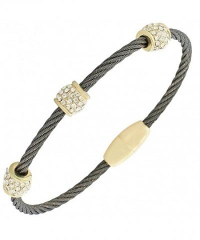 Fashion Yellow Gold Tone Twisted Bracelet