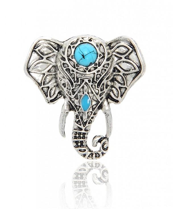 Cyntan Retro Elephant Rings Silver