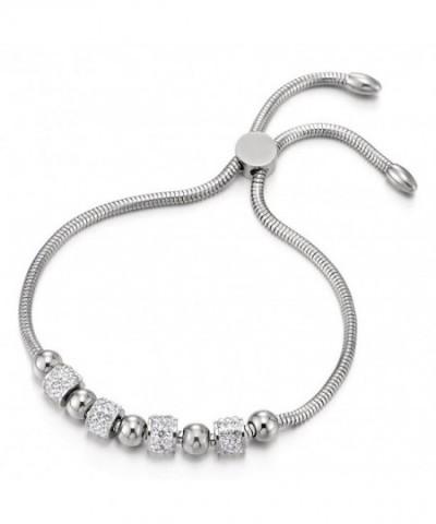 Stainless Bracelet String Zirconia Adjustable