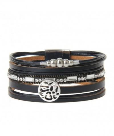 Black Geniune Leather Cuff Bracelet