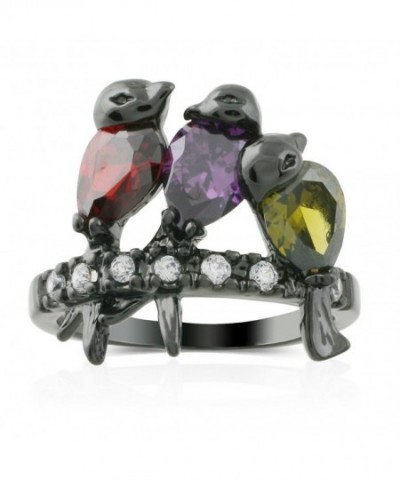 JanKuo Jewelry Rhodium Finished Multi Color
