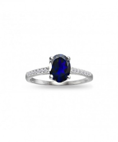 Sterling Silver Created Sapphire White