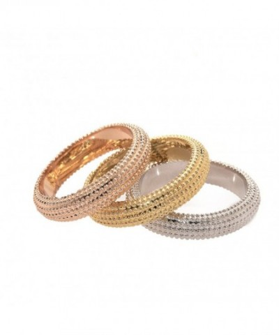 Womens Brushed Gold Plated Piece Stackable