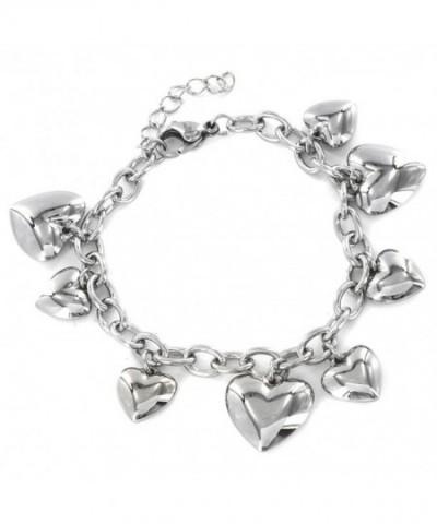 Womens Stainless Polished Dangle Bracelet
