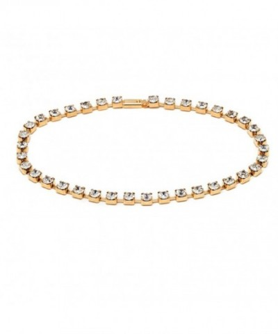 Plated Crystal Princess Tennis Anklet