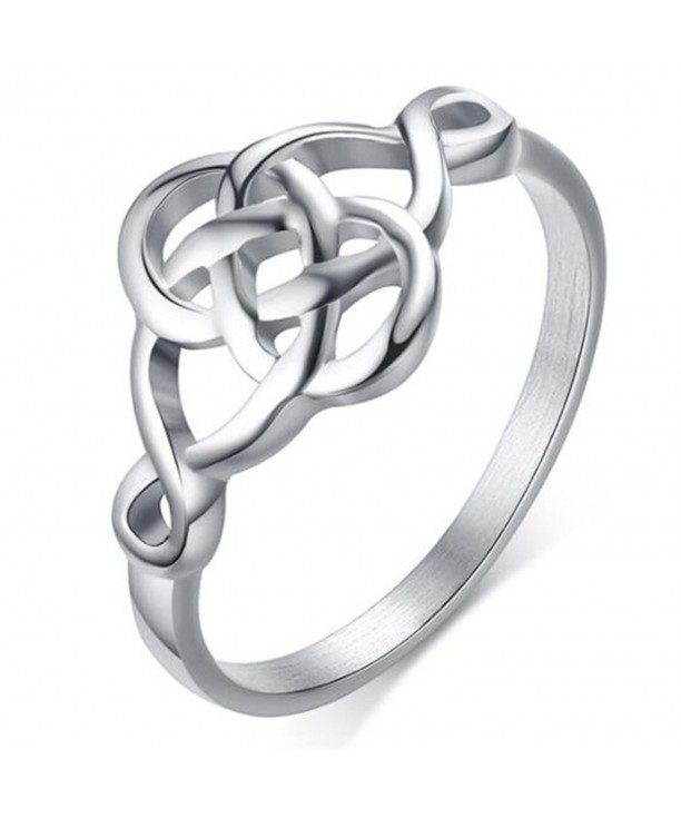 Stainless Steel Classical Celtic Silver