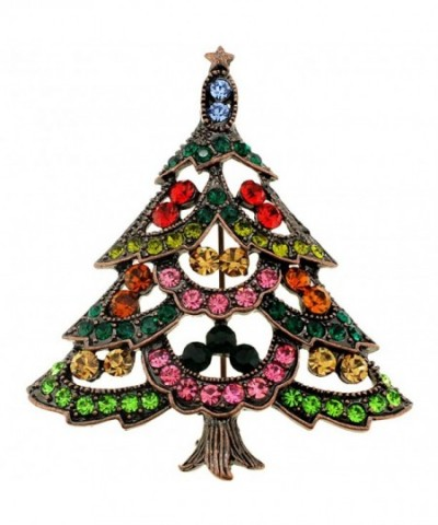 Multi Color Christmas Tree Pin Brooch