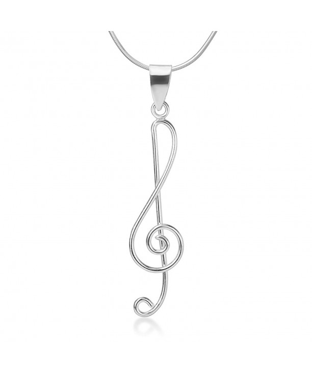9a45a8a2b8a38b 925 Sterling Silver Treble G Clef Musical Note Music Lover Pendant ...
