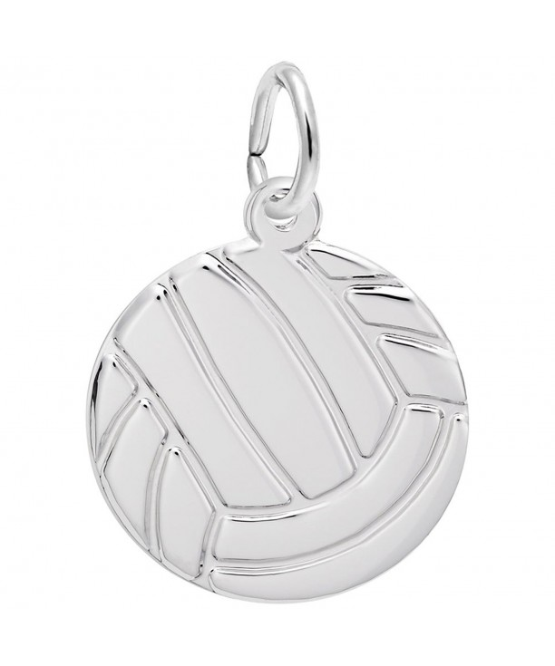 Rembrandt Charms Volleyball Sterling Engravable