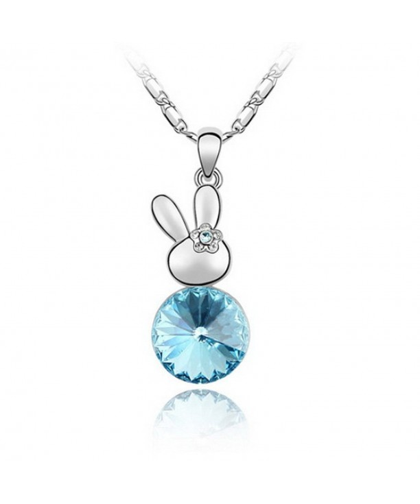 03c3820daadbd Premium Bunny Rabbit Shaped Crystal Necklace Genuine Swarovski Crystal  Elements Pendant C211JWWD6JV