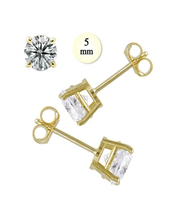 Crazy2Shop Yellow Simulated Diamond Earring
