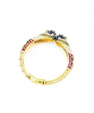 Ethnic Openable Bracelet Zirconia Valentines