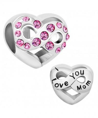 LovelyJewelry Infinity Heart Charm Bracelet