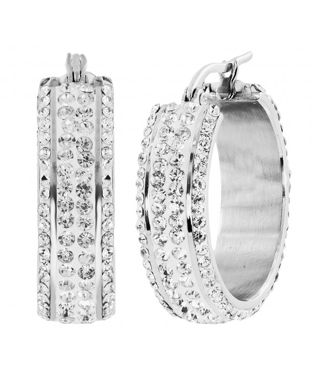 Michael Designs Stainless Crystal Earring