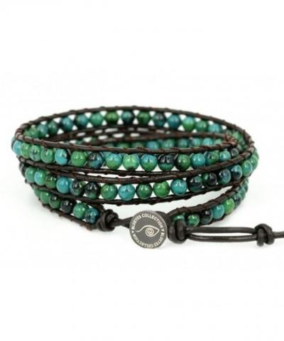 BLUEYES COLLECTION Amicable ChrysocollaGemstone Bracelet