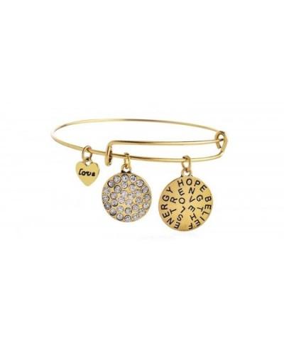 Expandable Crystal Bangle Strength Bracelet
