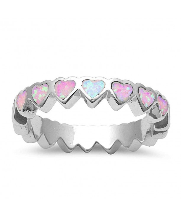 Created Pink Heart Sterling Silver