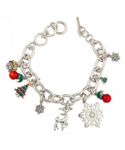 Lux Accessories Christmas Snowflake Bracelet