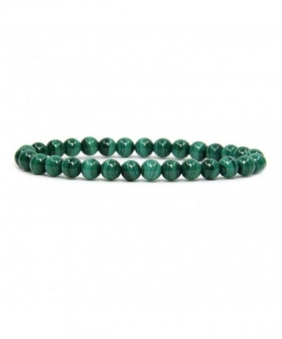 Natural Malachite Gemstone Stretch Bracelet