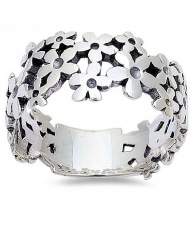 Plumerias Fashion Sterling Silver Sizes