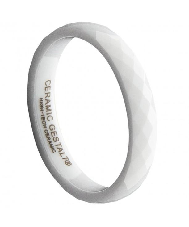 White Ceramic Ring CERAMIC GESTALT