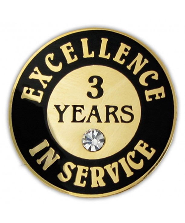 PinMarts Plated Excellence Service Rhinestone